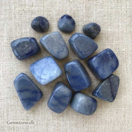 Dumortierite Gemstone Tumbled