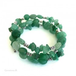 Aventurine Green Bracelet Natural Stone Memory wire