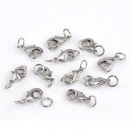 Lobster Clasp Alloy Silver Tone