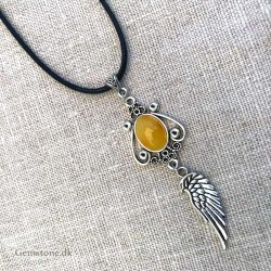 Amber Pendant Angel Wing Natural Baltic Amber