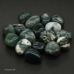 Agate Moss large Tumbled Stones Dark Green