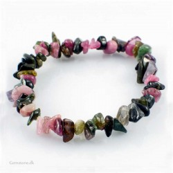Turmalin armbånd Natural Multicolor Tourmaline Chips
