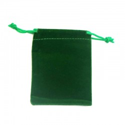 Jewelry bag green velvet drawstring pouch