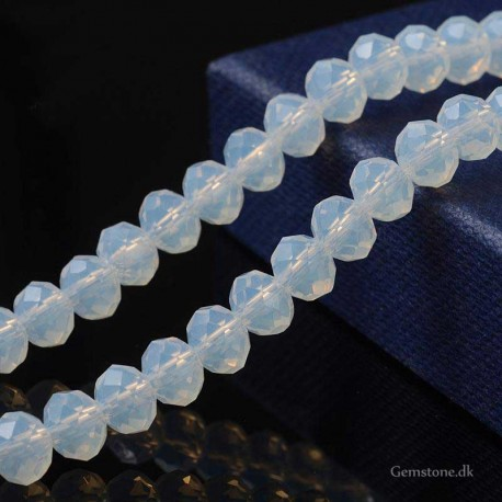 Opalite Faceted Rondelle Abacus Beads