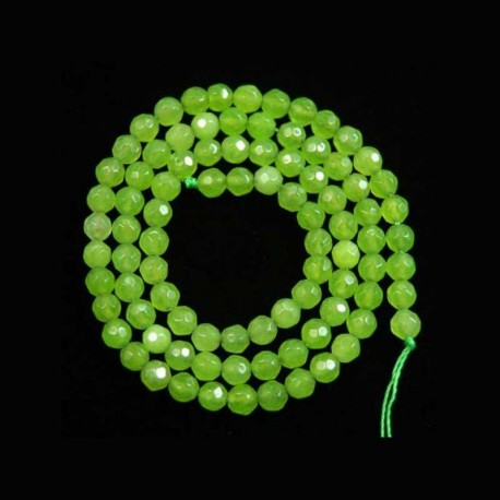 Peridot Green Beads Natural Faceted 4mm 1 Strand