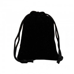 Jewelry bag black velvet drawstring pouch