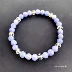 Blue Chalcedony Bracelet 6mm Natural Stone Beads