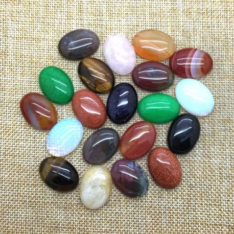 Cabochon 25x18mm Oval Natural Stone DIY Jewelry