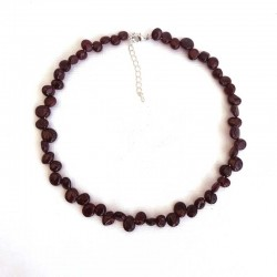 Garnet Choker Necklace Natural Stone