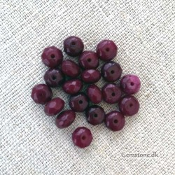 Ruby Beads Faceted Rondelle 8x5mm Natural Ruby