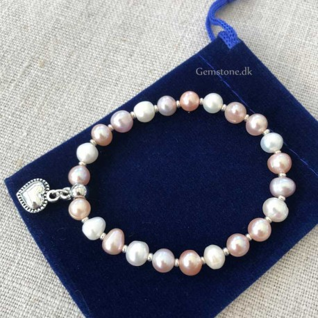 Pearl Bracelet Natural Multicolor Freshwater Pearl 7-8mm
