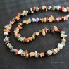Natural Stone Necklace Agate / Jasper / Quartz Chips