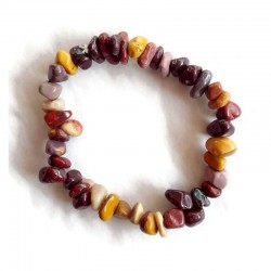 Mookaite Bracelet Natural Gemstone Chips