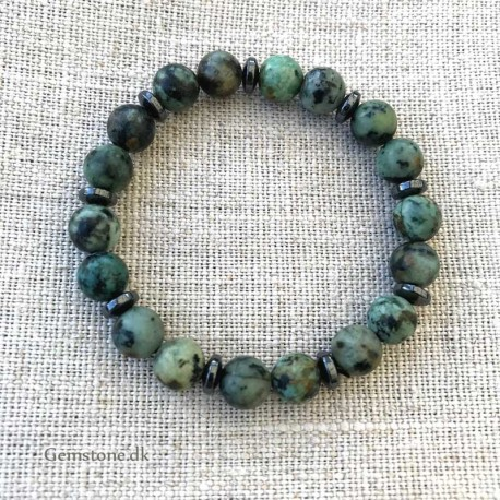 Turquoise Bracelet 8mm Natural African Turquoise Stone