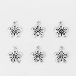 Flower Charms Silver Color Pendant DIY jewelry
