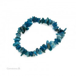 Armbånd Apatit sten Natural Blue Apatite Chips