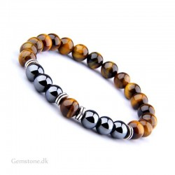 Tiger Eye / Hematite Gemstone Bracelet Health Care