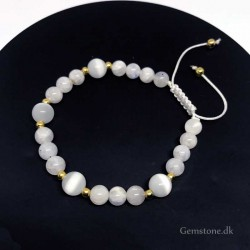 Bracelet Moonstone / White Cats Eye Natural Stone