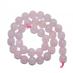 Rosakvarts facetperler 4mm 1 streng Natural Rose Quartz Faceted Beads