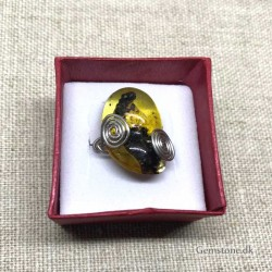 Rav Ring unik fingerring Natural Amber