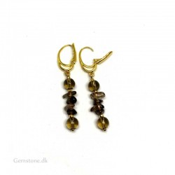Earrings Smoky Quartz Natural Crystal Stone