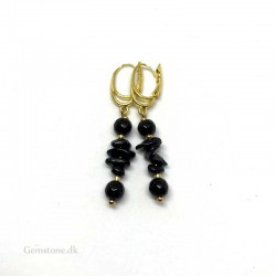 Earrings Black Tourmaline / Onyx Natural Crystal Stone