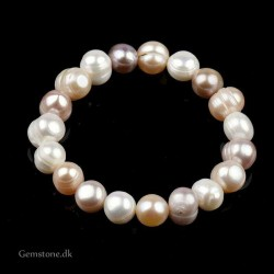 Ferskvandsperler armbånd 8-9mm Natural Irregular Multicolor Pearl