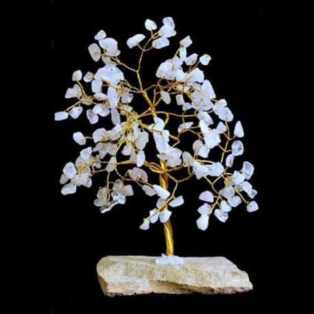 Rose Quartz Gemstone Tree 160 crystal stones