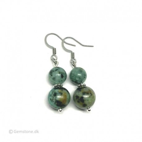 African Turquoise Earrings Stainless Steel
