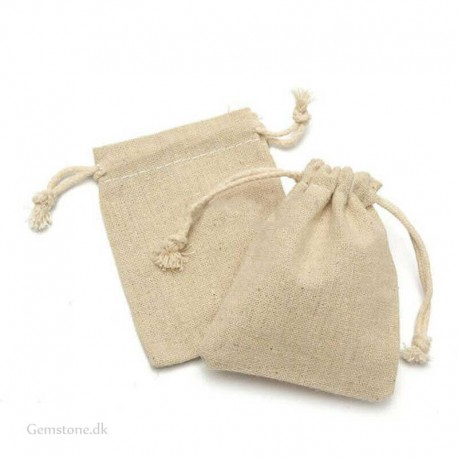 Jewelry Pouch Linen Drawstring Bag