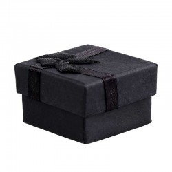 Jewelry Box Black Small Gift Ring Box Bowknot