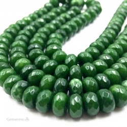 Jade perler grøn Faceted sten Rondelle 8x5mm Natural Nephrite Beads