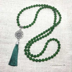 Mala Beads Jade Green 108 gemstone beads 6mm