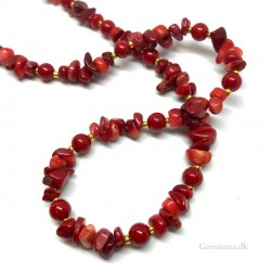 Coral Necklace Natural Sea Red Coral Chips