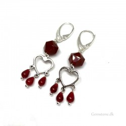 Earrings Carnelian Red Agate Gemstone Leverbacks