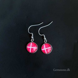 Earrings Danish Flag Dannebrog Stainless Steel