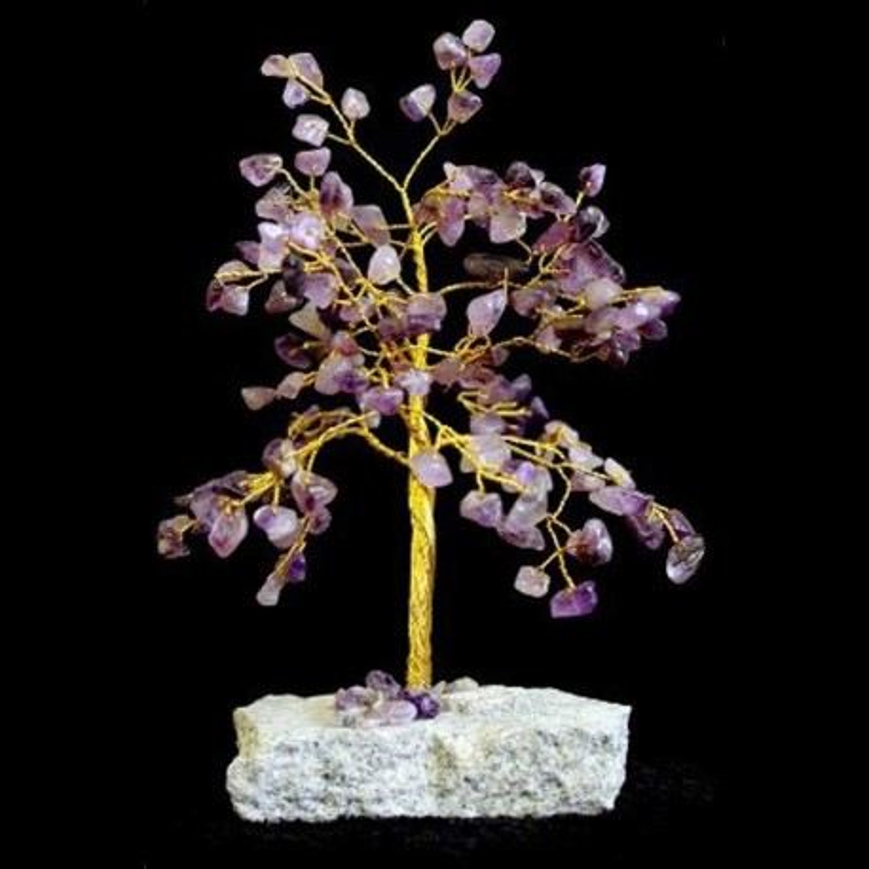 Amethyst gemstone tree 160 stones