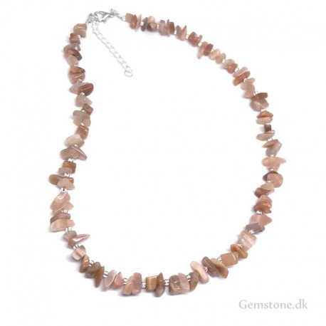 Necklace Sunstone Natural Stone Chips