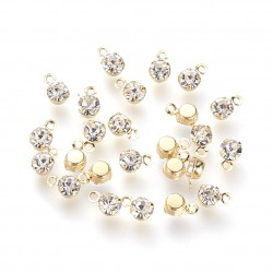 Charms Gold Plated Rhinestone Pendants DIY Jewelry
