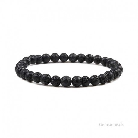 Lava Stone Mens Bracelet Natural Lava Rock