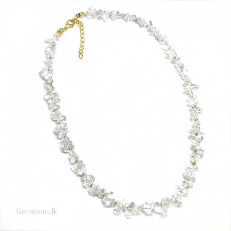 Rock Crystal Necklace Natural Stone Chips