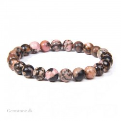Rhodonit armbånd ægte sten 8mm Natural Rhodonite