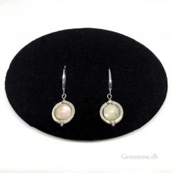 Earrings Moonstone Gemstone Stainless Steel