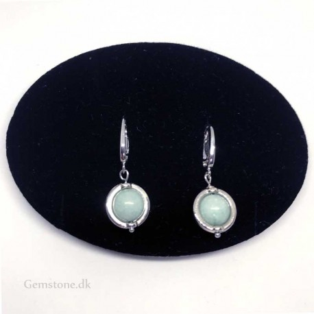 Earrings Aquamarine Gemstone Leverback Hooks