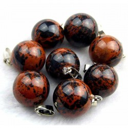 Obsidian Mahogany Pendant Gemstone Ball 14mm