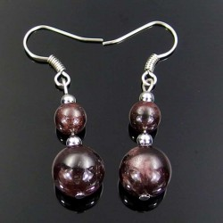 Garnet Earrings Natural Red Garnet Gemstone