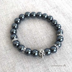 Men's Bracelet Hematite Natural 10mm
