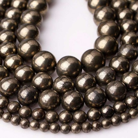 Pyrite Beads Natural Stone DIY Jewelry
