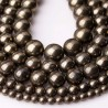 Pyrit perler Natural Iron Pyrite Gemstone Beads