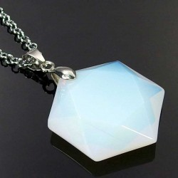 David Star Pendant Opal Stone Gemstone Jewelry